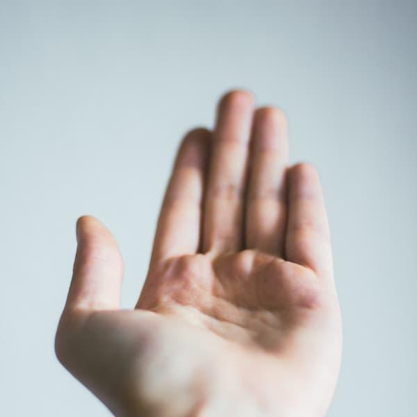 手指消毒のお願い